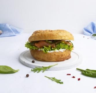 Бургер-сендвич с семгой